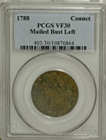 1788 COPPER Connecticut Copper, Mailed Bust Left VF30 PCGS....(PCGS# 403)