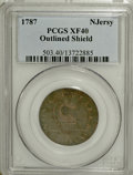 Colonials, 1787 COPPER New Jersey Copper, Outlined Shield XF40 PCGS....