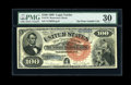 Large Size:Legal Tender Notes, Fr. 176 $100 1880 Legal Tender PMG Very Fine 30....