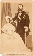 Photography:CDVs, Carte de Visite of Emperor Maximilian I and Empress Carlotta of Mexico.... (Total: 2 Items)