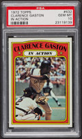 Baseball Cards:Singles (1970-Now), 1972 Topps Clarence Gaston In Action #432 PSA Gem MT 10 - Pop Six.. ...