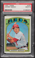 Baseball Cards:Singles (1970-Now), 1972 Topps Johnny Bench #433 PSA Mint 9 - Only Two Higher. ...