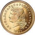 Proof Four Dollar Gold Pieces, 1879 $4 Flowing Hair, Judd-1635, Pollock-1833, R.3, PR67 Cameo NGC....