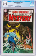 Bronze Age (1970-1979):Horror, House of Mystery #185 (DC, 1970) CGC NM- 9.2 White pages....