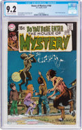 Bronze Age (1970-1979):Horror, House of Mystery #186 (DC, 1970) CGC NM- 9.2 Off-white to whitepages....