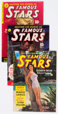 Golden Age (1938-1955):Miscellaneous, Famous Stars Group of 5 (Ziff-Davis, 1950-51) Condition: Average GD/VG.... (Total: 5 Comic Books)