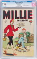 Golden Age (1938-1955):Romance, Millie the Model #16 (Marvel, 1949) CGC FN/VF 7.0 Off-whitepages....