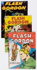Golden Age (1938-1955):Science Fiction, Flash Gordon Group of 9 (Dell, 1940s-50s) Condition: AverageGD/VG.... (Total: 9 Comic Books)