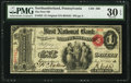 National Bank Notes:Pennsylvania, Northumberland, PA - $1 Original Fr. 382 The First NB Ch. # 566....