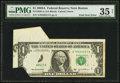 Error Notes:Foldovers, Fr. 1930-A $1 2003A Federal Reserve Note. PMG Choice Very Fine 35Net.. ...