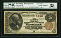 National Bank Notes:Pennsylvania, Sewickley, PA - $5 1882 Brown Back Fr. 471 The First NB Ch. # 4462....