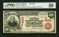 National Bank Notes:Virginia, Luray, VA - $10 1902 Red Seal Fr. 613 The Page Valley NB Ch. #(S)6206. ...