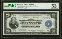Fr. 823 $20 1918 Federal Reserve Bank Note PMG About Uncirculated 53