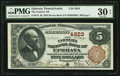 National Bank Notes:Pennsylvania, Ephrata, PA - $5 1882 Brown Back Fr. 473 The Farmers NB Ch. # 4923....