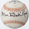 Autographs:Baseballs, Baseball Greats Multi-Signed Baseball With Mrs. Babe Ruth....