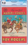 Golden Age (1938-1955):Western, March of Comics #77 Roy Rogers (K. K. Publications, Inc., 1951) CGCVF/NM 9.0 Off-white to white pages....