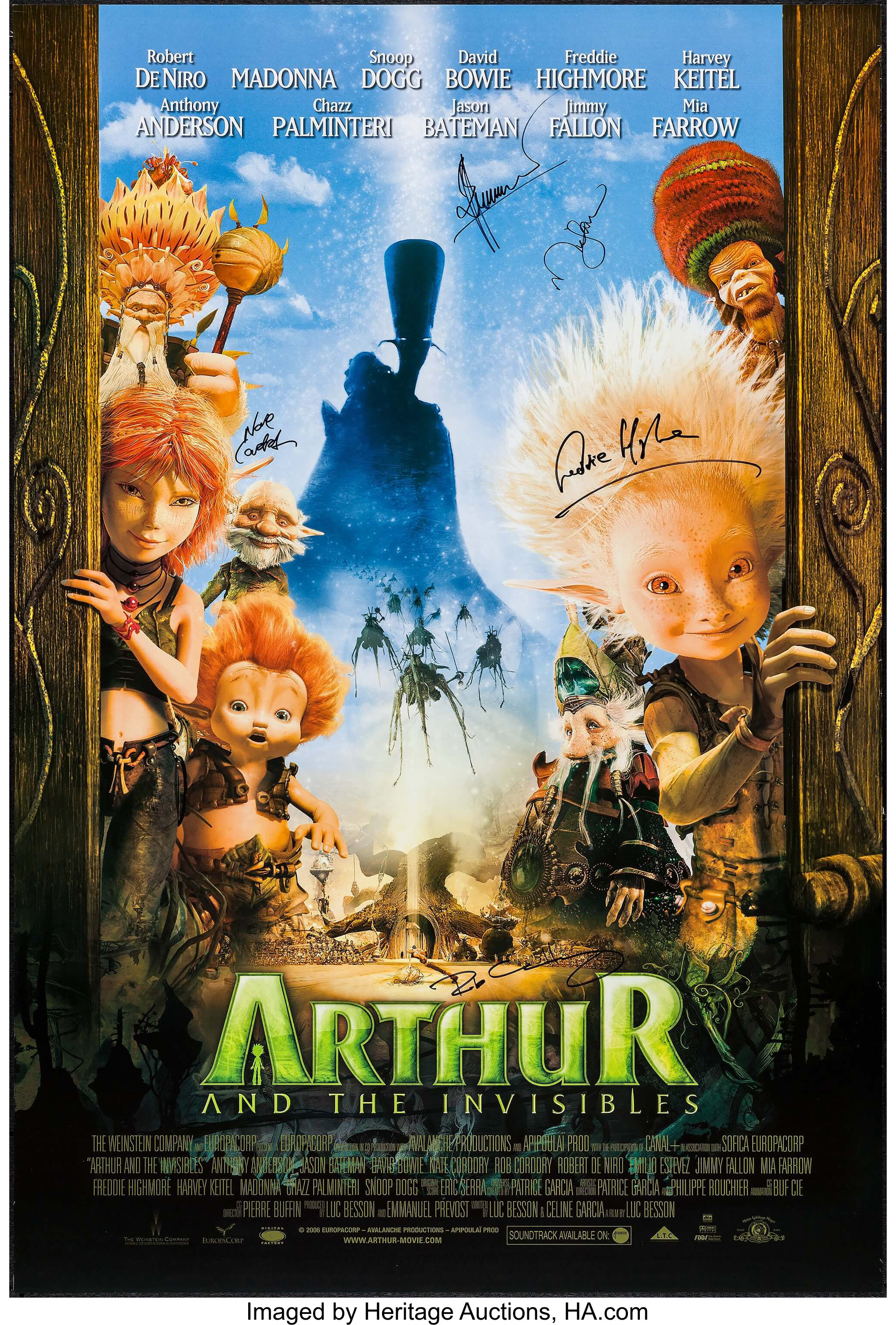 Arthur And The Invisibles Other Lot Mgm 2006 Autographed One Lot 52015 Heritage Auctions