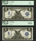 Large Size:Silver Certificates, Cut Sheet of Courtesy Autographed Fr. 232 $1 1899 Silver Certificates. . ... (Total: 4 notes)