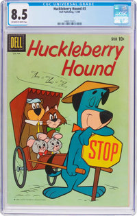 Huckleberry Hound #3 (Dell, 1960) CGC VF+ 8.5 Off-white to white pages