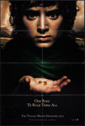 "Movie Posters:Fantasy, The Lord of the Rings: The Fellowship of the Ring & Other Lot(New Line, 2001). One Sheet (27"" X 41"") DS Teaser. Fantasy.. ...(Total: 2 Items)"