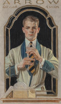 Fine Art - Painting, American, Joseph Christian Leyendecker (American, 1874-1951). Arrow CollarShirt, advertisement study. Oil and pencil on canvas. 1...(Total: 2 Items)