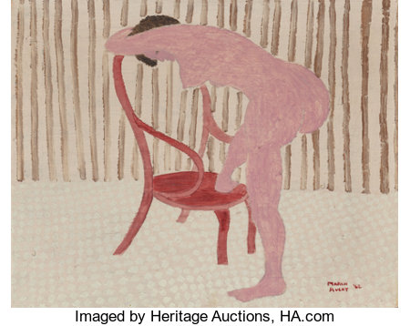 March Avery (American, b. 1935)Nude with Chair, 1962Oil on canvas16 x 20 inches (40.6 x 50.8 cm)Signed and dated...