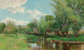 Fine Art - Painting, American, Olive Parker Black (American, 1868-1948). River Bend inSummer. Oil on canvas. 18 x 30 inches (45.7 x 76.2 cm). Signedl...
