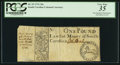 Colonial Notes:South Carolina, South Carolina 1731 One Pound (20s) PCGS Very Fine 35.. ...