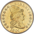 Early Eagles, 1801 $10 BD-2, R.2, MS61 PCGS....