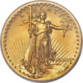 High Relief Double Eagles, 1907 $20 High Relief, Wire Rim MS65 PCGS....