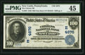 National Bank Notes:Pennsylvania, New Castle, PA - $100 1902 Date Back Fr. 693 The Citizens NB Ch. #(E)4676. ...