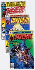 Modern Age (1980-Present):Superhero, Daredevil Group of 30 (Marvel, 1979-83) Condition: Average NM-....(Total: 30 Comic Books)