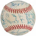 Autographs:Baseballs, 1991 Chicago Cubs Team Signed Baseball (28 Signatures)....