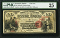 National Bank Notes:Maine, Portland, ME - $20 1875 Fr. 431 The National Traders Bank Ch. #1451. ...