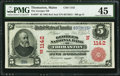 National Bank Notes:Maine, Thomaston, ME - $5 1902 Red Seal Fr. 587 The Georges NB Ch. #(N)1142. ...