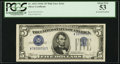Error Notes:Inverted Third Printings, Fr. 1653 $5 1934C Silver Certificate. PCGS About New 53.. ...