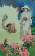 Mainstream Illustration, Robert McGinnis (American, b. 1926). Roosevelt's Rose, probablepaperback cover. Gouache on board. 19.5 x 12.25 in.. Sig...