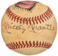 Autographs:Baseballs, Mickey Mantle Single Signed Portrait Baseball. ...