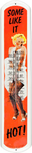 Movie/TV Memorabilia:Props, A Marilyn Monroe Collectible Outdoor Thermometer, Circa 1970s....