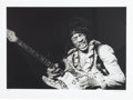 Music Memorabilia:Photos, Jimi Hendrix at Monterey Black and White Photo by Bruce Fleming(1967)....