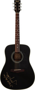 Musical Instruments:Acoustic Guitars, Johnny Cash Signed Ibanez Guitar. A black 1995 Iba...