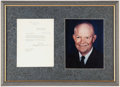 Miscellaneous Collectibles:General, 1956 President Dwight Eisenhower Typed Signed Letter.. ...