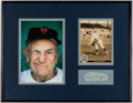 Baseball Collectibles:Hats, Casey Stengel Cut Signature Display.. ...