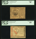Colonial Notes:Continental Congress Issues, Two About New $30 Continental Currency Notes - May 10, 1775 $30PCGS About New 50 & January 14, 1779 $30 PCGS Choice AboutNew... (Total: 2 notes)