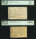 Colonial Notes:North Carolina, Two North Carolina December, 1771 Notes - £2 PCGS Apparent AboutNew 53 & £5 PCGS About New 53PPQ.. ... (Total: 2 notes)