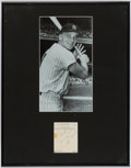 Baseball Collectibles:Photos, Roger Maris Signed Cut Signature Display.. ...