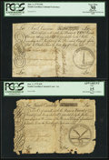 Colonial Notes:South Carolina, Two South Carolina June 1, 1775 Notes - £10 PCGS Apparent Very Fine30 & - £20 PCGS Apparent Fine 15.. ... (Total: 2 notes)