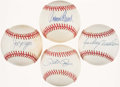 Autographs:Baseballs, Cincinnati Reds Greats Single Signed Baseballs Lot of 4 - Rose,Morgan, Bench & Anderson....