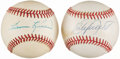 Autographs:Baseballs, Harmon Killebrew and Kirby Puckett Single Signed Baseballs Lot of2....
