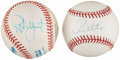 Autographs:Baseballs, Paul Molitor and Robin Yount Single Signed Baseballs Lot of 2....